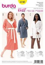 Burda Costura Patrón Super fácil bath robes Talla 32 - 50 6740