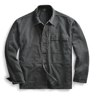 RRL Ralph Lauren US Military Herringbone Twill Overshirt Jacket-MEN- XXL