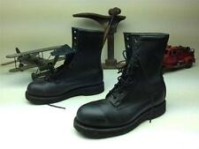 BLACK ADDISSON STEEL TOE COMBAT MILITARY PARATROPER LACE UP FIELD BOOTS SZ 7 XW
