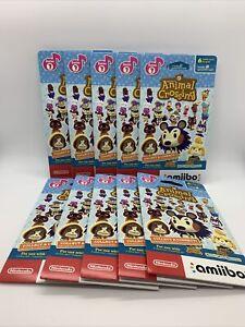 10x Nintendo Amiibo Animal Crossing Series 3 Sealed Character Card Pack Lot