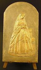 Médaille religieuse figure de la Vierge Marie 10 cm Virgin Maria religious medal