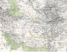 157 Jahre alte Landkarte 1860 Iran PERSIA  پارس AFGHANISTAN د افغانستان واک