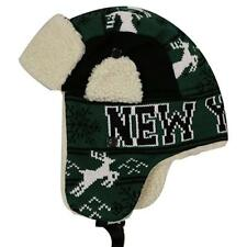 11856a5e47f368 NEW YORK Winter Trapper Hat Snow Deer Aviator Knit Fleece Beanie Adult OSFA  New