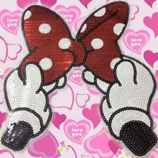 1 Pcs Sequins Bowknot Appliques Cartoon Bow Hand Embroidered Patches For Clothes