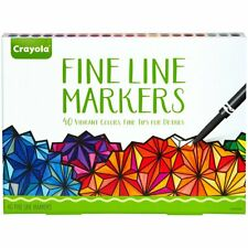 Crayola Fine Line Markers, Assorted Colors, Adult Coloring, 40 Count, Gift