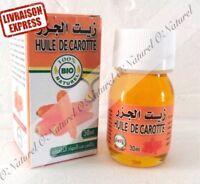 Huile de Carotte BIO 100% Naturelle 30ml Carrot Oil, Aceite zanahoria