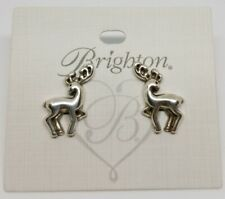 Brighton Silver Prancer Reindeer Post Earrings Holiday Christmas NWT