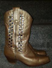 Womens Sancho Cowboy Boots Gold Silver Eur 37 UK 4