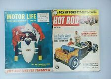 Vintage Motor Life Apr 1954 And Hot Rod Apr 1962 Magazines Lot Of 2