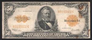 50 Dollars 1922 Gold Certificate