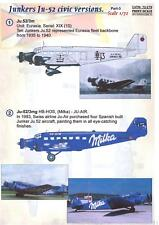 Print Scale Decals 1/72 JUNKERS Ju-52 Civil Versions Part 3 with Milka Chocolate