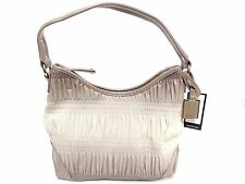 NWT Nine West Shoulder Bag Hobo Metallic Off White /Taupe (2)