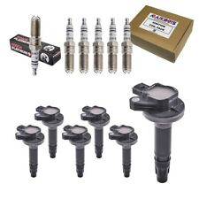 Set of (6) Bosch Spark Plugs + 6 High Performance Ignition Coils For Ford & More