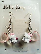 "Hello Kitty Ohrstecker Ohrring ""HEART ANGEL KITTY""  Original Sanrio NEU! mit OVP"