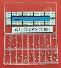 Sizes and Shapes 1 or 2 Steps Gf8125C 90Pcs Brass Watch Crown Tube 18 Different
