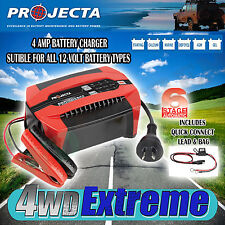 PROJECTA PC400 12 VOLT 4AMP BATTERY CHARGER 6 STAGE AUTOMATIC GEL AGM SLA 12V