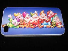Seven Dwarfs Hard Cover Case for iPhone 4 4s Snow White's Seven Dwarfs Blue