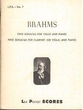 Brahms: 2 Sonate Per Violoncello e Piano, 2 Sonate per Viola e Piano  Lea Pocket