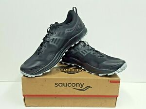 saucony PEREGRINE 10 Men's TRAIL Running Shoes Size 12 (Black/Red) NEW