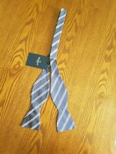 BNWT Hackett London blue strip bow tie bowtie