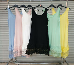 Women Lace Full Slip Camisole Under Dress Spaghetti Braces Underskirt Petticoat