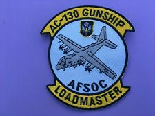 USAF LOCKHEED AC-130 GUNSHIP AFSOC LOAD MASTER PATCH MEASURES 5 X 4 1/4 INCHES