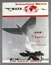 EAST AFRICAN AIRWAYS EAA INTERLINE NEWS JANUARY 1967 - VICKERS SUPER VC10
