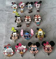 Nerds Rock Head Collection Wearing Glasses Standing Disney Pin Make a Set Lot