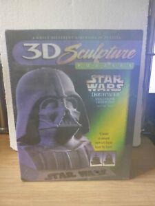 "Vintage 3D Sculpture Puzzle Star Wars Darth Vader (144 Layers 9.5"" High) Sealed"