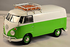 VW Volkswagen T1 Tipo 2 furgoneta con Baca 1959-67 Blanco Verde 1:24