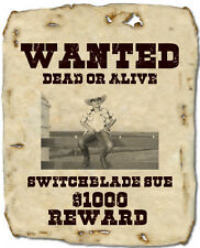A4 Personalised Wanted Poster Fridge Magnet-8.3 x 11.7 Inches-Send Pic