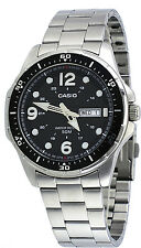 Casio MTD100D-1A Men's Enticer Sports Stainless Steel Day Date Black Dial Watch