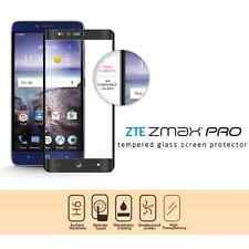BLACK FULL SCREEN COVERAGE TEMPER GLASS PHONE SCREEN PROTECTOR FOR ZTE ZMAX PRO