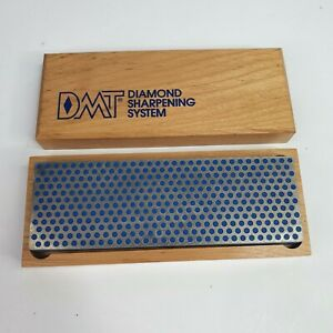 DMT Diamond Sharpening System Blue Sharpening Stone Wooden Storage Box Vintage