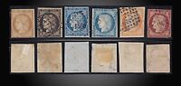 1849 -1850 FRANCE CERES LOT USED SCOTT 1,3,6,7,8 MICHEL 1,3,6,7,8