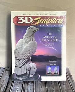 Vintage Puzzle 3D American Bald Eagle Sculpture Layer Milton Bradley Sealed