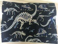 """Pottery Barn Kids Dinosaur Bones Blue Pillow Sham """"Sydney"""" NLA NWOT"""
