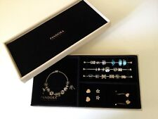 New PANDORA Leather Jewelry Box LIMITED EDITION With 3 Charm Bars