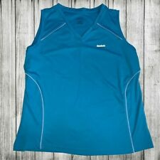 Reebok Racerback PlayDry Women's Size Large Turquoise Blue Athletic Tank Top