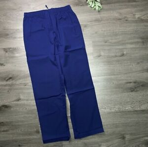 BROOKS BROTHERS Men's Small Cotton Pajama Lounge Pants Blue Poplin NWT
