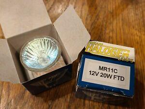 2- Hikari MR11 (10W) Halogen 6V Flood Bulb Bi-Pin Base NEW