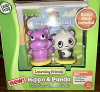Leapfrog Learning Friends Hippo & Panda Figure Set w/Board Book for 2+ Yrs *NEW*