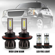 4Pcs Combo H13 Led Headlight + 5202 Fog Light Bulbs for Gmc Yukon Xl1500 07-2014