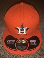 NWT New Era Houston Astros Orange Authentic On-Field Cap Size 7 1/2 Made In US