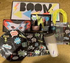 Meri Meri Superhero Party Bundle Plates Napkins Cake Cases Banner Party Bags New