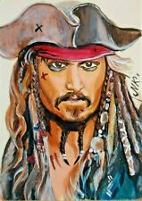 ACEO Original Art Painting Pirates of the Caribbean by Maks_arts