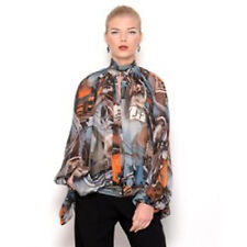 AUTH NWT NEW Jean Paul Gaultier semi sheer silk top Sz 42/US 8