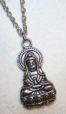 Sculpt Buddhist Praying Avaloketeswara Pendant Necklace
