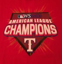MLB TEXAS RANGERS 2010 AL LEAGUE CHAMPS XL RED T-SHIRT SHIPS FREE