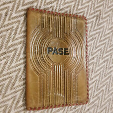 USSR Soviet Latvia Real Leather Cover for Passport, ID, PASE or Small Book